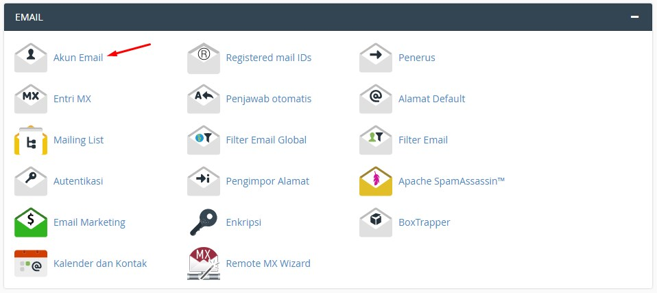 Fitur Email cpanel