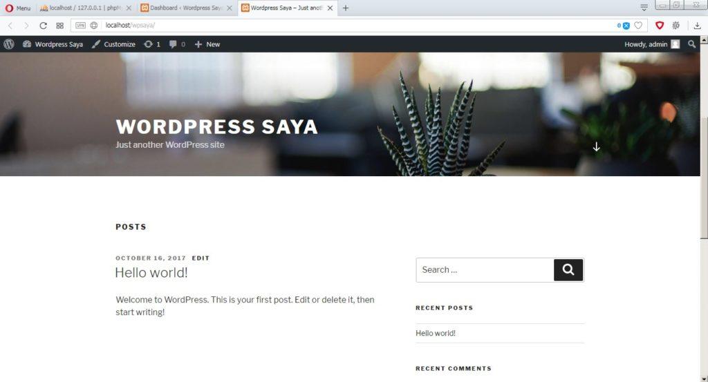 Halaman depan wordpress