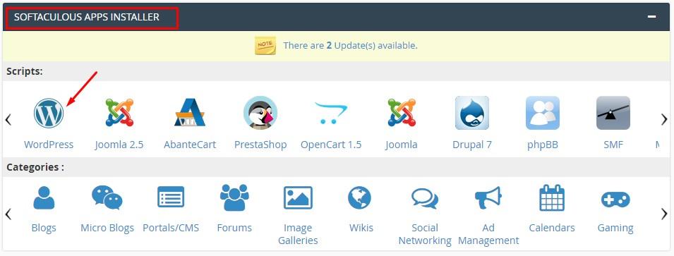 App installer softaculous