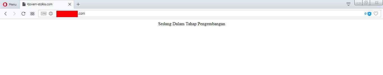 Hasil edit file php di cpanel