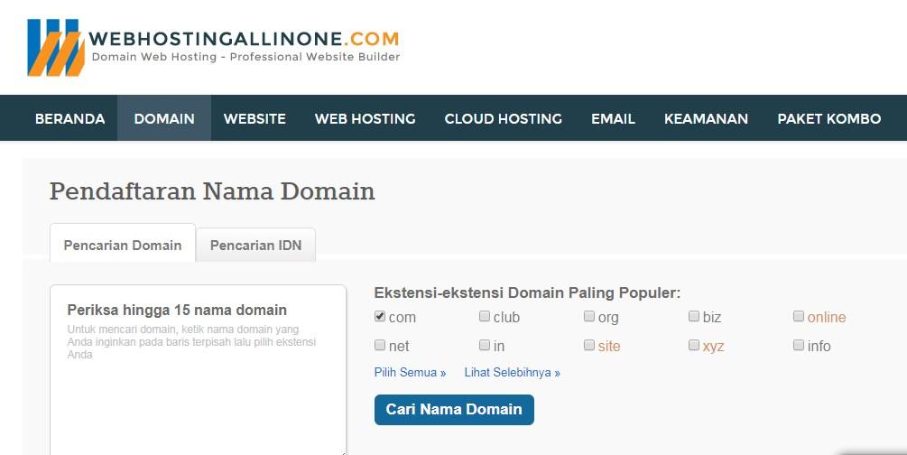 Cara Membuat Form Pencarian Nama Domain Di Website