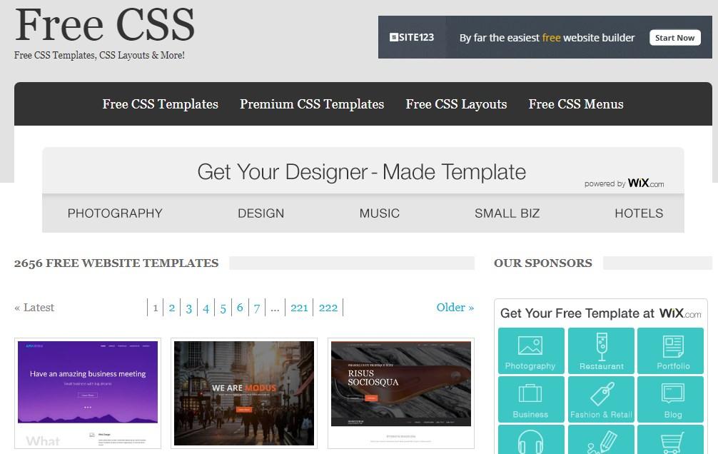 Website Penyedia Template Web Gratis Berkualitas 1