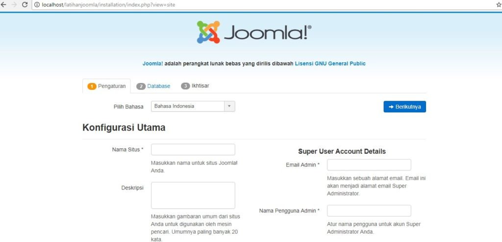 Cara Membuat Website Dengan Joomla 15