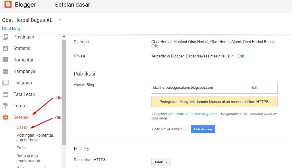 Cara Merubah Domain Blogspot Menjadi Domain Sendiri