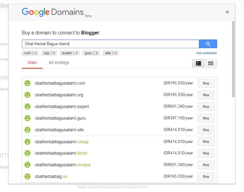 Cara Merubah Domain Blogspot Menjadi Domain Sendiri 3
