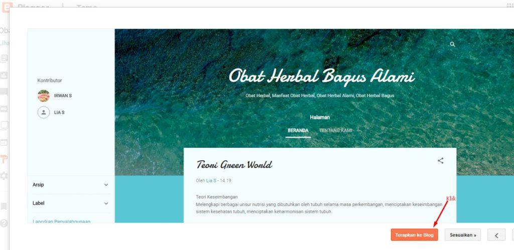 Cara Merubah Template Di Blog Blogspot 6
