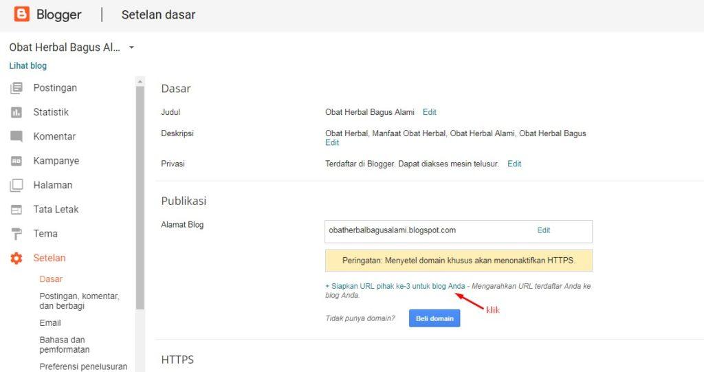 Cara Merubah Domain Blogspot Menjadi Domain Sendiri 4