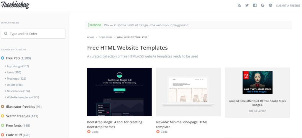 Website Penyedia Template Web Gratis Berkualitas 7
