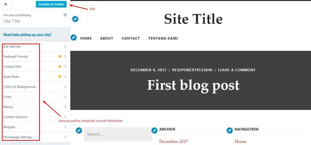 Cara Mengganti Template WordPress Melalui Dashboard 7