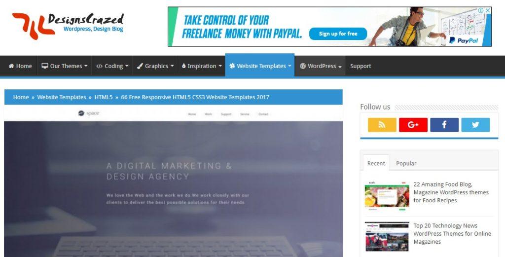 Website Penyedia Template Web Gratis Berkualitas 8