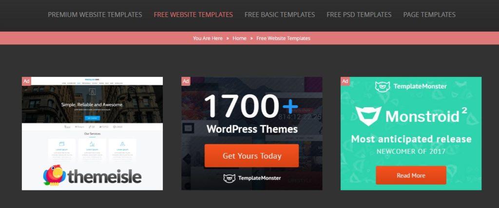 Website Penyedia Template Web Gratis Berkualitas 9