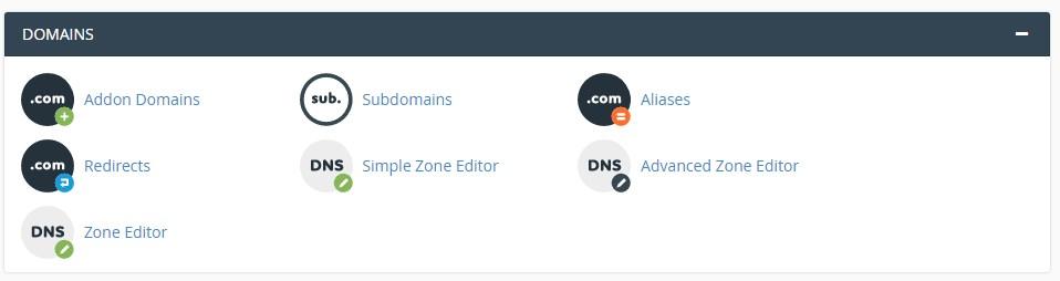 Sub domain da addon domain