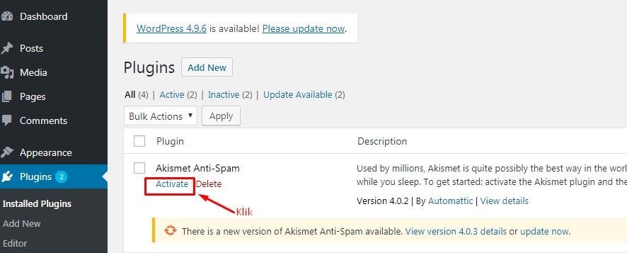 Cara Mengatasi Komentar Spam Dengan Plugin Akismet 2