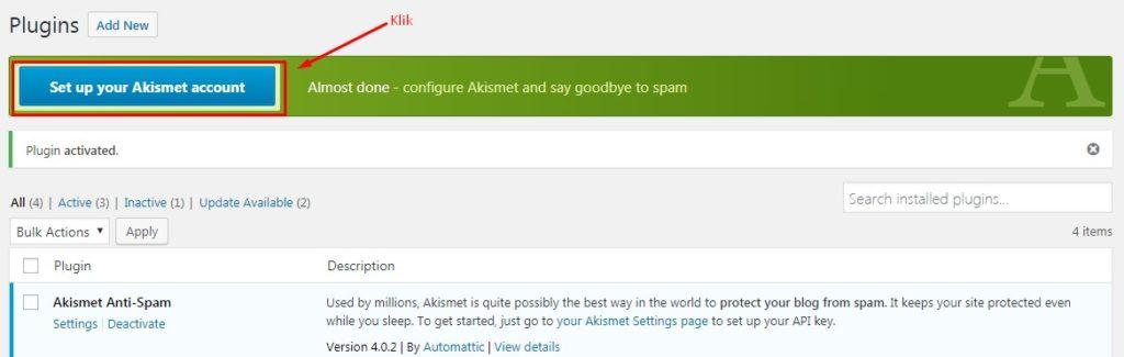 Cara Mengatasi Komentar Spam Dengan Plugin Akismet 3