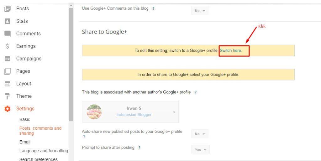 Cara Membagikan Postingan ke Google Plus di Blogger 3