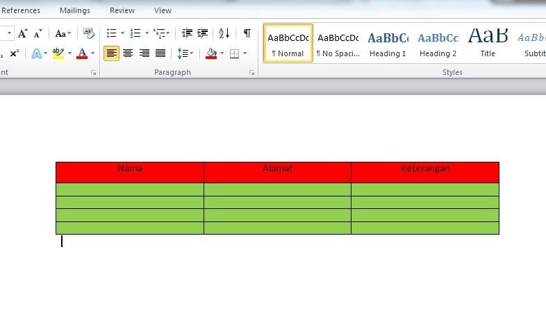 Cara Membuat Tabel di Postingan Blog Menggunakan Microsoft Word 2