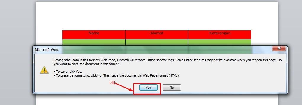 Cara Membuat Tabel di Postingan Blog Menggunakan Microsoft Word 6