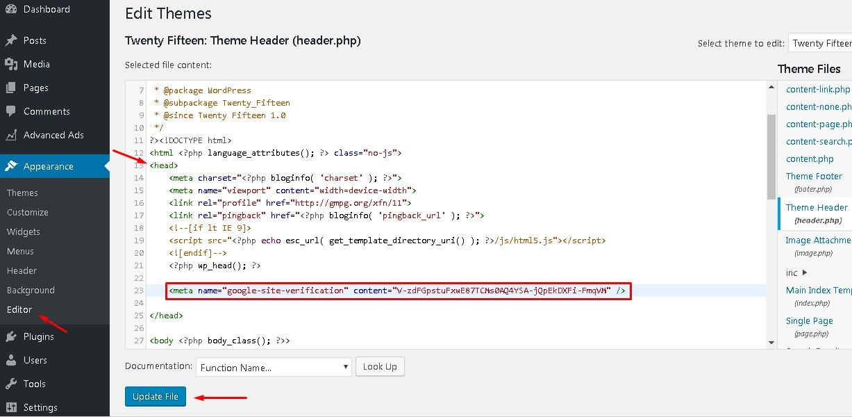 cara verifikasi properti webmaster tools