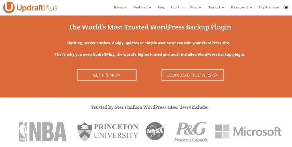 UpdraftPlus Plugin Untuk WordPress