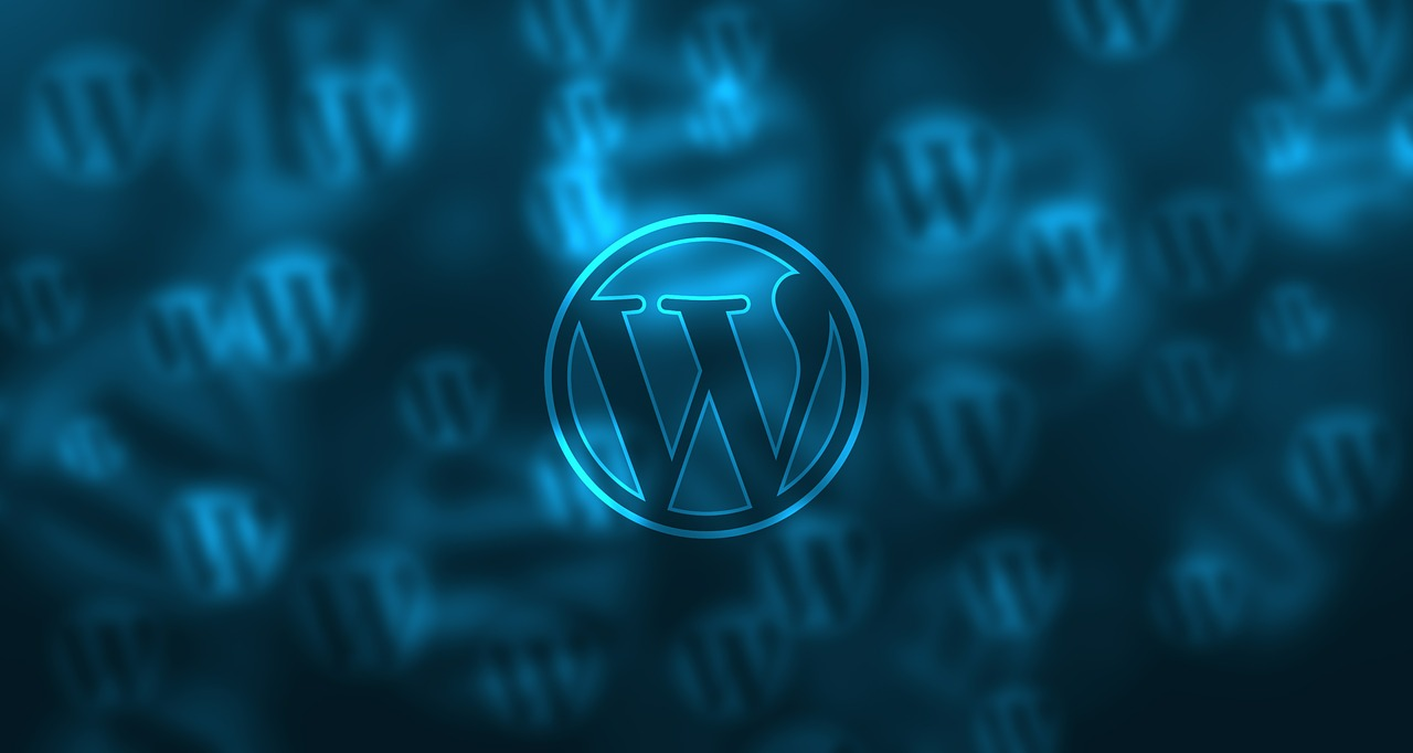 Wordpress logo and background