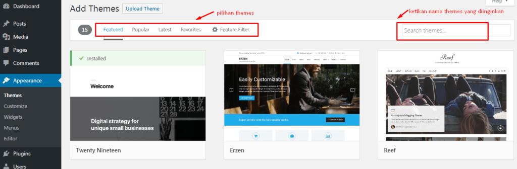 Cara Install Theme Baru Pada WordPress 3