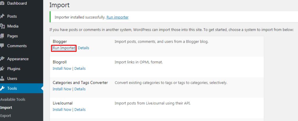 Cara Import Blogspot Ke WordPress 7