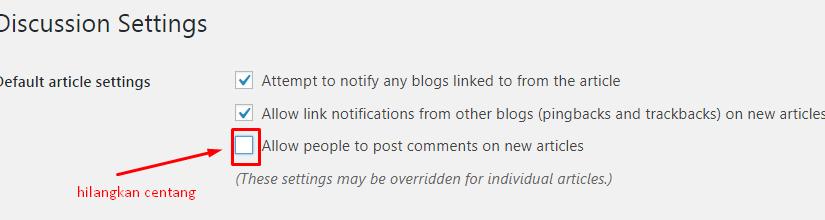 Cara Menonaktifkan Komentar di WordPress