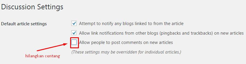 Cara Menonaktifkan Komentar di WordPress 6