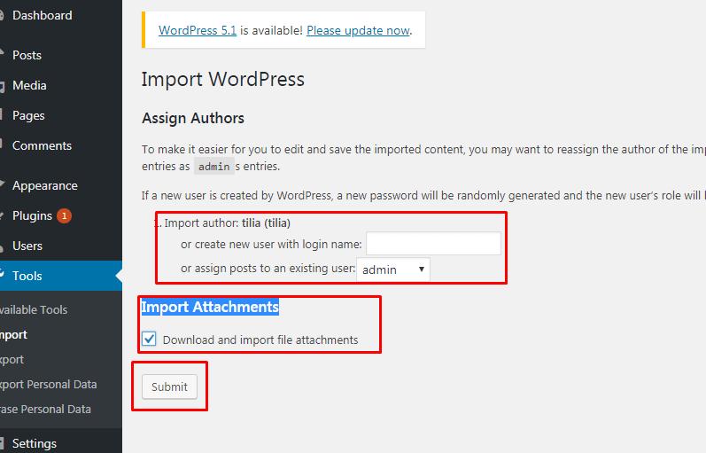 Cara Export Import Konten WordPress 10