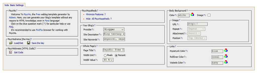 Pengaturan Dasar | gambar screenshot dari psyc.horm.org